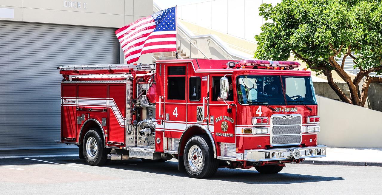 fire trucks red